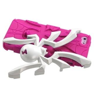 INSTEN White/ Hot Pink Spiderbite Hybrid Phone Case for Apple iPhone 5/ 5S/ SE