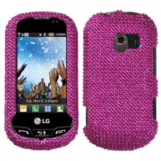 INSTEN Hot Pink Diamante Phone Case Cover for LG VN271 Extravert