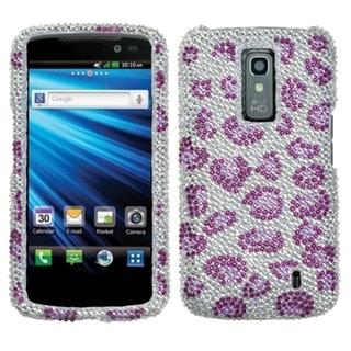 INSTEN Leopard / Purple Diamante Phone Case Cover for LG P930 Nitro HD