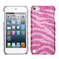 Insten Hot Pink/ Pink Zebra Hard Snap-on Rhinestone Bling Case Cover For Apple iPod Touch 5th/ 6th Gen