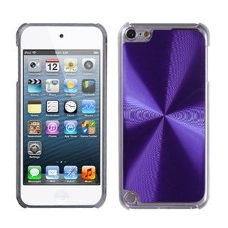 Insten Purple/ Clear Cosmo Aluminum Hard Plastic Metal Case Cover For Apple iPod Touch 5th/ 6th Gen