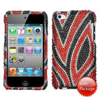 INSTEN Jungle Fever Diamante iPod Case Cover for Apple iPod Touch 4th Generation