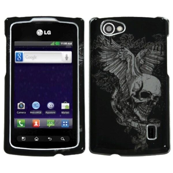 INSTEN Skull Wing Phone Case Cover for LG MS695 Optimus M+