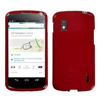 INSTEN Solid Red Phone Case Cover for LG E960 Nexus 4