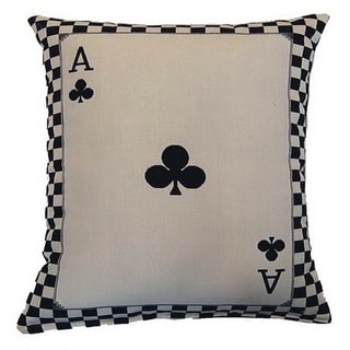 Ace of Clubs Parchment 17-inch Throw Pillows (Set of 2)