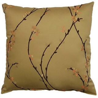 Calico Leaf 17-inch Throw Pillows (Set of 2)