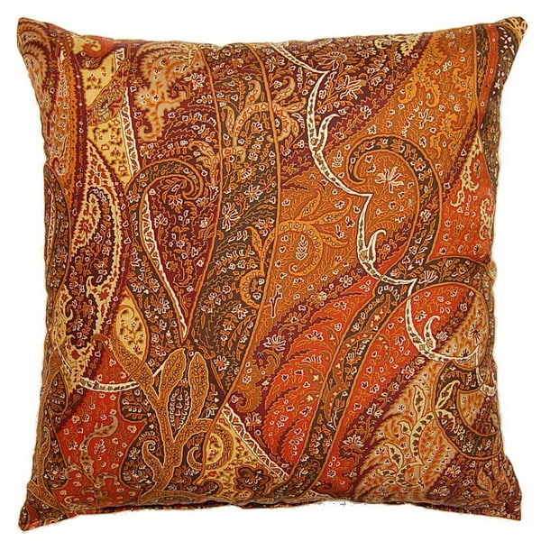 Paisley Silk Spice 19-inch Throw Pillows (Set of 2) - Free Shipping Today - Overstock.com - 15431190