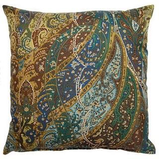 Paisley Silk Teal 19-inch Throw Pillows (Set of 2)