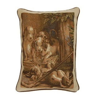 Playful Sand 17-inch Throw Pillows (Set of 2)