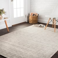 "Hand-knotted Franklin Oatmeal Wool Rug - 3'6"" x 5'6"""