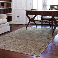 Hand-knotted Franklin Stone Wool Rug (7'6 x 9'6)