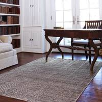 Hand-woven Franklin Stone Wool Rug (5' x 7'6)