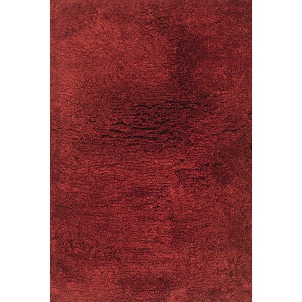 Hand-tufted Ellis Crimson Shag Rug - 5' x 7'6