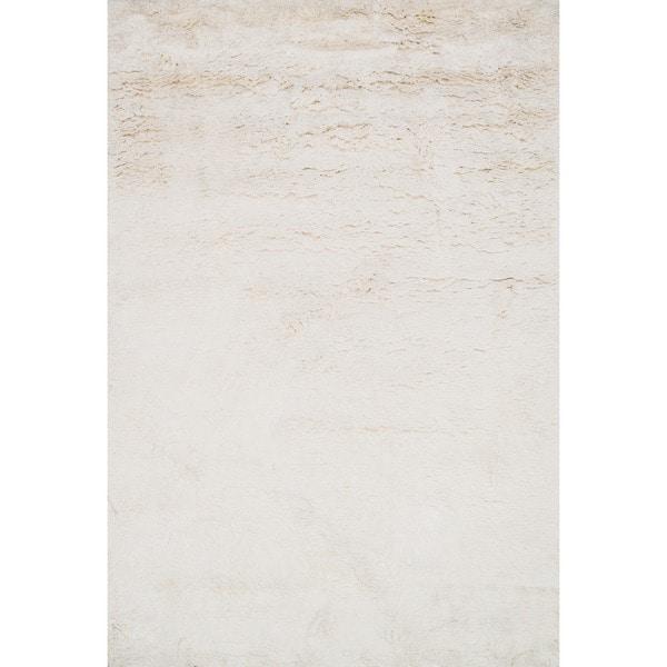 Hand-tufted Ellis Ivory Shag Rug - 5' x 7'6