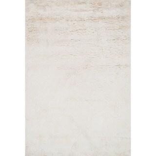 Hand-tufted Ellis Ivory Shag Rug (5'0 x 7'6)