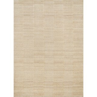 Hand-knotted Franklin Natural Wool Rug (9'3 x 13)