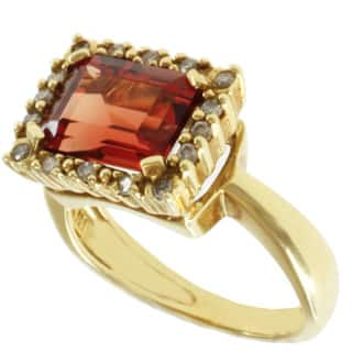 Michael Valitutti 18k Yellow Gold Round Ruby Sunstone and Diamond Ring|https://ak1.ostkcdn.com/images/products/8076793/Michael-Valitutti-18k-Yellow-Gold-Round-Ruby-Sunstone-and-Diamond-Ring-P15431277.jpg?impolicy=medium