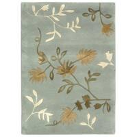 Safavieh Handmade Soho Light Blue Wool Rug - 2'6' x 4'