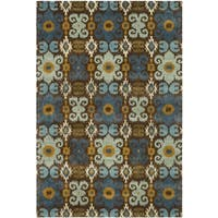 Safavieh Handmade Soho Brown/ Blue Wool Rug - 8'3 x 11'