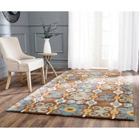"Safavieh Handmade Soho Brown/ Blue Wool Rug - 8'3"" x 11'"
