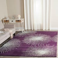 Safavieh Handmade Soho Burst Purple/ Ivory Wool Rug - 5' x 8'