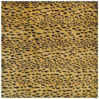 Safavieh Handmade Soho Beige/ Brown Wool Rug - 4' Square