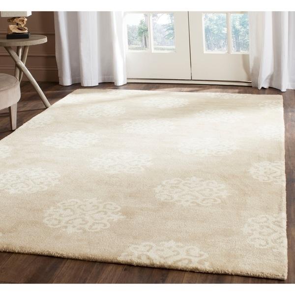 "Safavieh Handmade Soho Beige/ Ivory Wool Rug - 9'6"" x 13'6"""