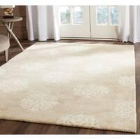 Safavieh Handmade Soho Beige/ Ivory Wool Rug - 6' x 9'