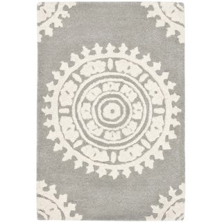 Safavieh Handmade Soho Light Grey/ Ivory Wool Rug (2'6 x 4')