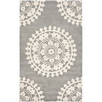 Safavieh Handmade Soho Light Grey/ Ivory Wool Rug - 11' x 15'
