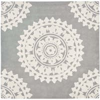 Safavieh Handmade Soho Light Grey/ Ivory Wool Rug - 10' square