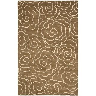 Safavieh Handmade Soho Brown/ Ivory Wool Rug (8' 3 x 11')