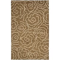 Safavieh Handmade Soho Brown/ Ivory Wool Rug (8' 3 x 11')