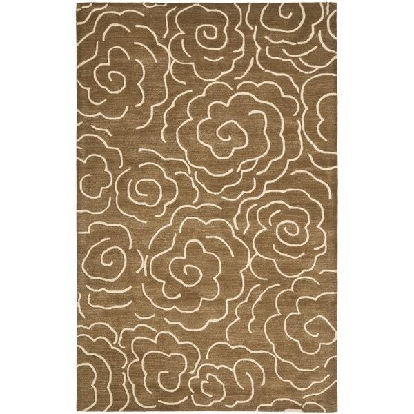 Safavieh Handmade Soho Brown/ Ivory Wool Rug - 8'3 x 11'