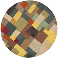 Safavieh Handmade Soho Modern Abstract Multicolored Wool Rug - 8' Round