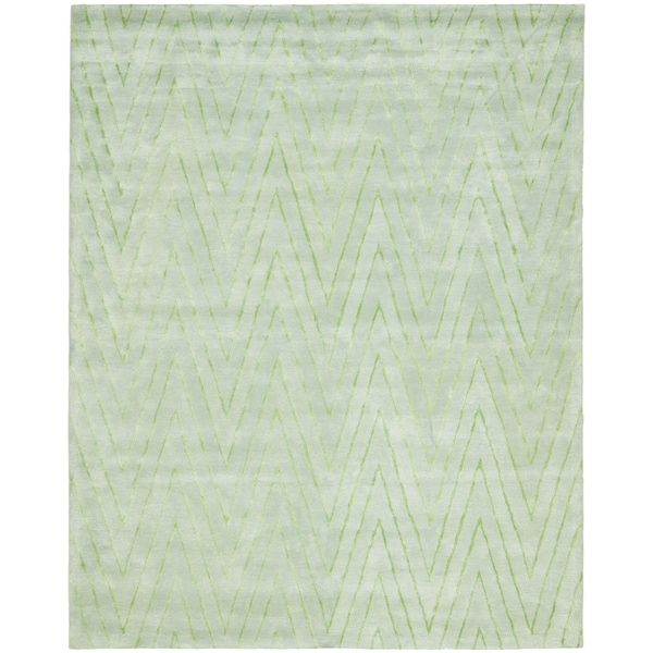 Safavieh Handmade Thom Filicia Seaglass/ Blue Wool/ Viscose Rug (9' x 12')