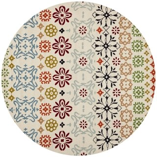 Safavieh Handmade Wyndham Ivory Wool Rug (5' Round)