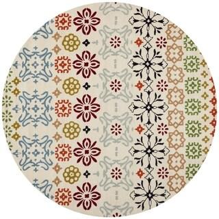 Safavieh Handmade Wyndham Ivory Wool Rug (8'9 Round)