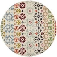 "Safavieh Handmade Wyndham Ivory Wool Rug - 8'9"" x 8'9"" Round"