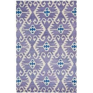 Safavieh Handmade Wyndham Lavender/ Ivory Wool Rug (8'9 x 12')