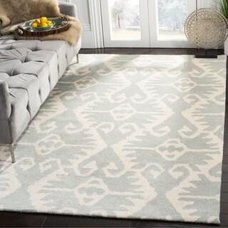 Safavieh Handmade Wyndham Grey/ Ivory Wool Rug (6' x 9')