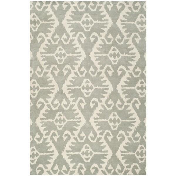 Safavieh Handmade Wyndham Grey/ Ivory Wool Rug - 8'9 x 12'