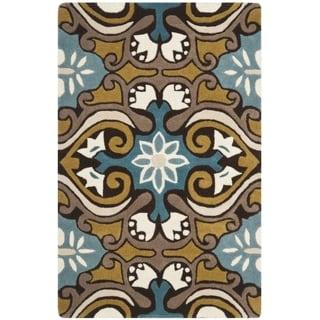 Safavieh Handmade Wyndham Blue Wool Rug (2' x 3')