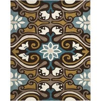 Safavieh Handmade Wyndham Blue/Brown Wool Rug - 8'9' x 12'