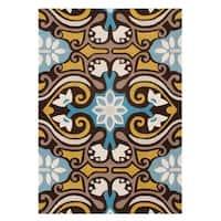 "Safavieh Handmade Wyndham Blue/Brown Wool Rug - 8'-9"" x 12'"