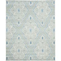 Safavieh Handmade Wyndham Blue/ Ivory Wool Rug - 8'9 x 12'
