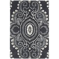 Safavieh Handmade Wyndham Dark Grey/ Ivory Wool Rug - 2' x 3'