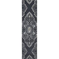 Safavieh Handmade Wyndham Dark Grey/ Ivory Wool Rug - 2'3 x 7'