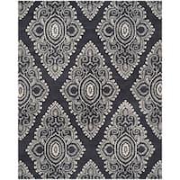 "Safavieh Handmade Wyndham Dark Grey/ Ivory Wool Rug - 8'-9"" X 12'"
