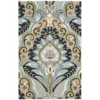 Safavieh Handmade Wyndham Contemporary Blue Wool Rug (3' x 5')